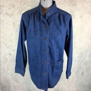Vintage 90s Koret City Blues Denim Shirt L XL